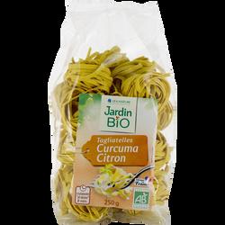 Tagliatelles au curcuma et au citron JARDIN BIO, sachet de 250g