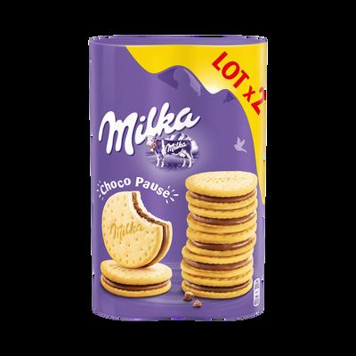 Biscuits choco pause MILKA, 2x260g