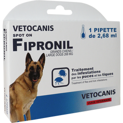 Spot on fipronil x1 grand chien, VETOCANIS, 3g