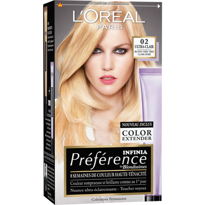 Coloration PREFERENCE, blondissime doré n°02