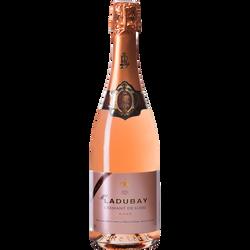 Crémant rosé AOP brut de Loire MADEMOISELLE LADUBAY, bouteille de 75cl