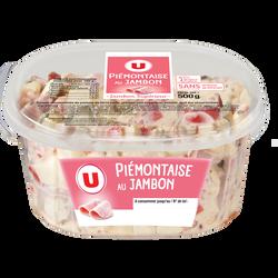 Piémontaise au jambon U, 500g