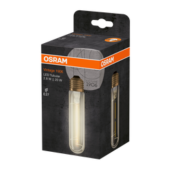 Ampoule led 1906 osram tube 20w e27 verre filament clair or