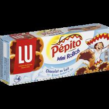 PEPITO Mini Rollos au lait, 6 pièces, 225g