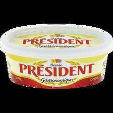 Président Beurre Doux , 82% De Mg, Barquette De 250g