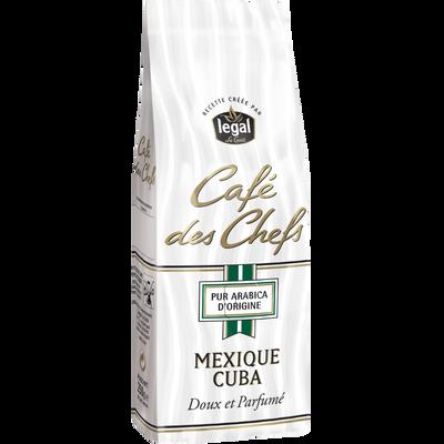 Café moulu origine Mexique-Cuba Le CAFE DES CHEFS Legal, 250g