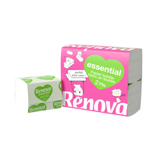 Renova Papier Toilette Plat 2 Plis Essential , X4