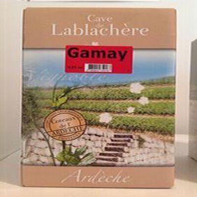 Vin IGP coteaux de l'Ardèche GAMAY Cave de Lablachère 5L