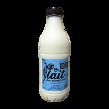 Lait pasteurisé 1/2 écrémé fermier frais LA FERME DE LA VIEILLE ABBAYE, bouteille 1 litre