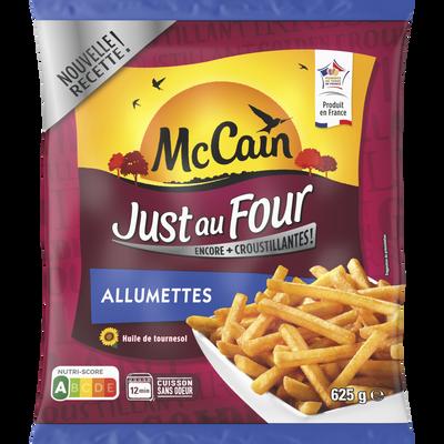 Frites Just au four coupe allumette MC CAIN, 625g