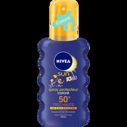 Spray solaire protecteur coloré pour enfants SPF50+ NIVEA SUN, flaconde 200ml