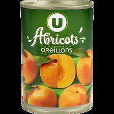 Abricots au sirop léger U boîte 1/2, 235g