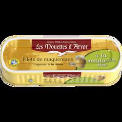 Filets maquereaux à la moutarde bio, MOUETTES D'ARVOR, 169g