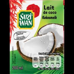 Lait de coco SUZI WAN, brique de 200ml