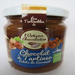 Chocolat à tartiner aux éclats de caramel, 240gr, pot, l'artisan chocolatier