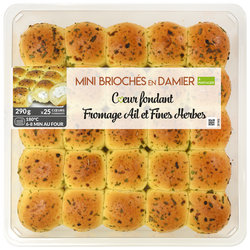 Damier coeur fondant fromage ail fines herbes, MIX BUFFET, 290g