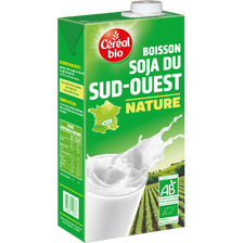 Boisson au soja nature Bio & Local CEREAL BIO, brique de 1 litre