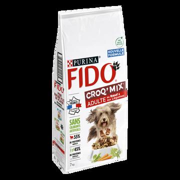 Fido Croq Mix Adult Au Boeuf Pour Chien Fido Sac De 7kg
