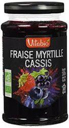 Cnfiture Bio Fraise Myrtille Cassis Vitabio 290g