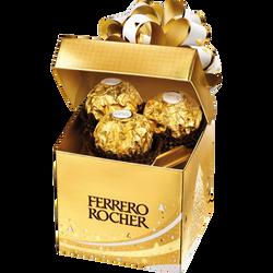 Rochers FERRERO, boîte cube de 6 unités, 75g