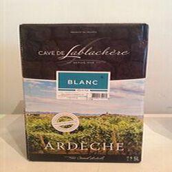 Vin BLANC IGP coteaux de l'Ardèche Cave de Lablachère 5L