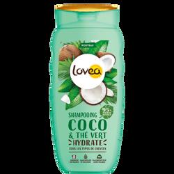 Shampoing coco thé vert pour tous types de cheveux LOVEA, 200ml