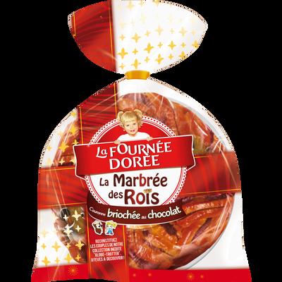 Couronne des rois briochée marbrée au chocolat LA FOURNEE DOREE, 400g