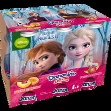 Danone Yaourt À Boire Sucré Aromatisé À La Fraise Banane Pêche Et Abricot Danonino, 6 Unités, 100g