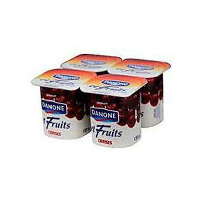 Yaourts fruits cerise DANONE, 4x125g