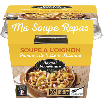Soupe repas oignons pomme de terre & lardons RAYNAL ET ROQUELAURE 350g