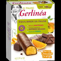Barres de repas minceur hyperprotéiné chocolat et orange GERLINEA, x12soit 372g