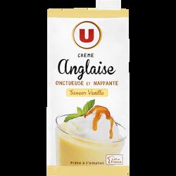 Crème anglaise saveur vanille UHT U, brique de 1l