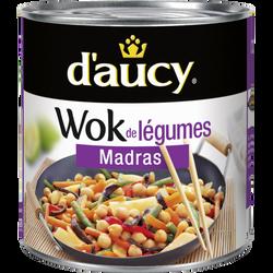 Wok de légumes madras, D'AUCY, 290g