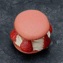 Macaron fraise, 1 pièce, 120g