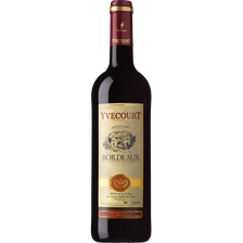 Vin rouge AOC Bordeaux Yvecourt,75cl