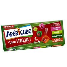 Fromage au lait pasteurisé fondu globe croqueur Viva Italia APERICUBE,22,5% de MG, 250g