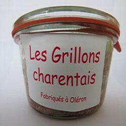 Les grillons charentais, Fabriqués à Oléron, 180gr, bocal, Les Conserves Dupuy