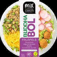 Budha bol falafels couscous légumineuses radis carottes jaunes MIX BUFFET, 310g