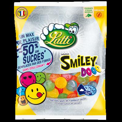 Bonbons gélifiés smiley dooo low sugar LUTTI, sachet de 125g
