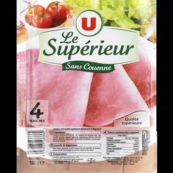 Jambon cuit supérieur sans couenne U, x4, 180g