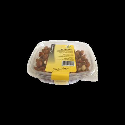 Mélange extra(raisin,amandes,noisettes), barquette 250g