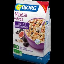 Muesli fibres son de blé bio BJORG, paquet de 375g