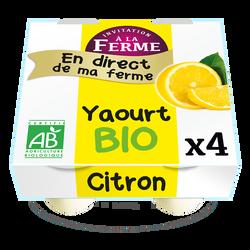 *Yaourts bio au Citron Fermier 4x125g FERME DU TERRIER BAZOGES EN PAILLERS