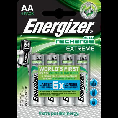 Piles ENERGIZER préchargeables, extreme, HR6, 2300 MAH, 4 unités