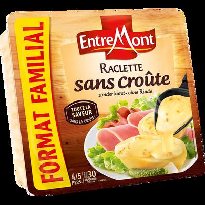 Fromage à pâte préssée non cuite au lait pasteurisé Raclette sans croûte 28% de MG ENTREMONT, 700g