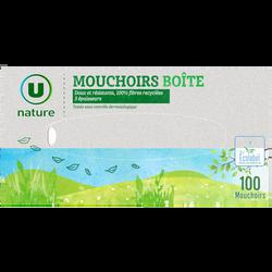 Mouchoirs 3 plis U NATURE, boîte x100