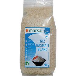 Riz basmati blanc BIO, MARKAL, le paquet de 500g