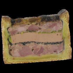 Paté croûte Richelieu canard BOLARD, 1 tranche, 100g