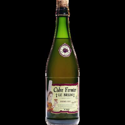 Cidre fermier demi-sec LE BRUN, 4°, bouteille de 75cl