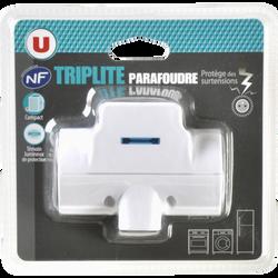 Triplite U, parafoudre, 2x16 ampères, et 1x6 ampère, blanche